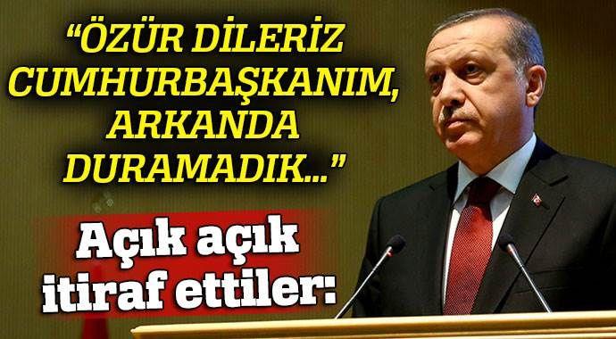 Osmanlı Ocakları İl Başkanı: 'Arkanda duramadık Cumhurbaşkanım, özür dileriz'