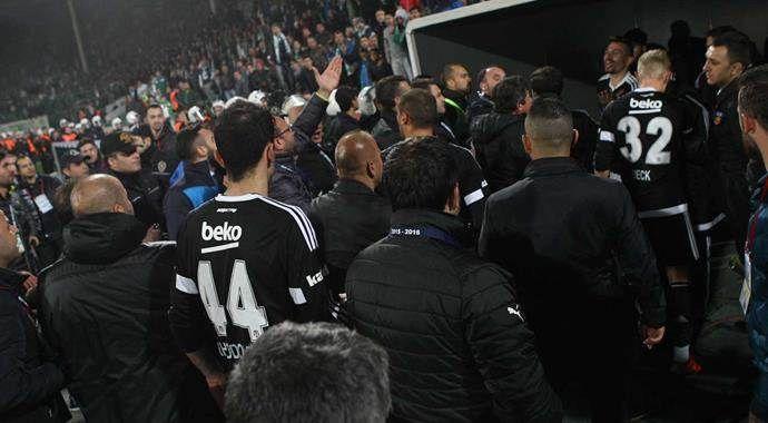 Bursaspor-Beşiktaş maçı sonu gerginlik