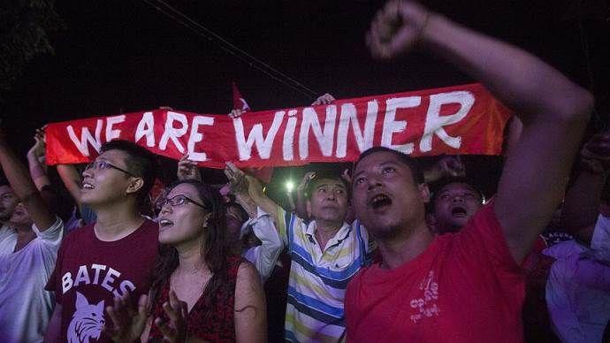 Myanmar'daki genel seçimi muhalefetteki parti kazandı