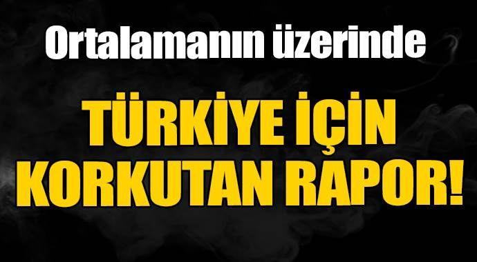 Türkiye için korkutan rapor açıklandı