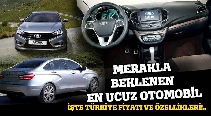 Yeni Lada Vesta'nın Türkiye fiyatı ve özellikleri