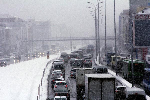 İstanbul'da kar