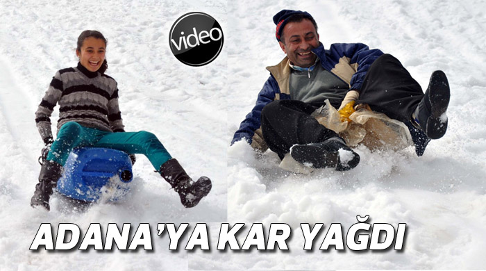 Adana'ya Mart ayında kar yağdı