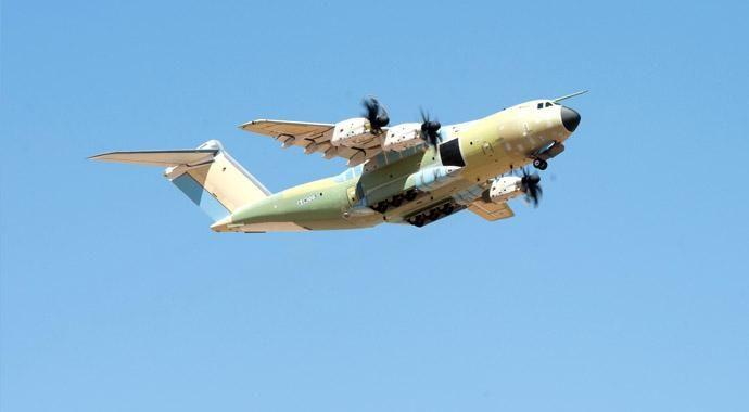 İşte Türkiye'nin ilk A400M uçağı