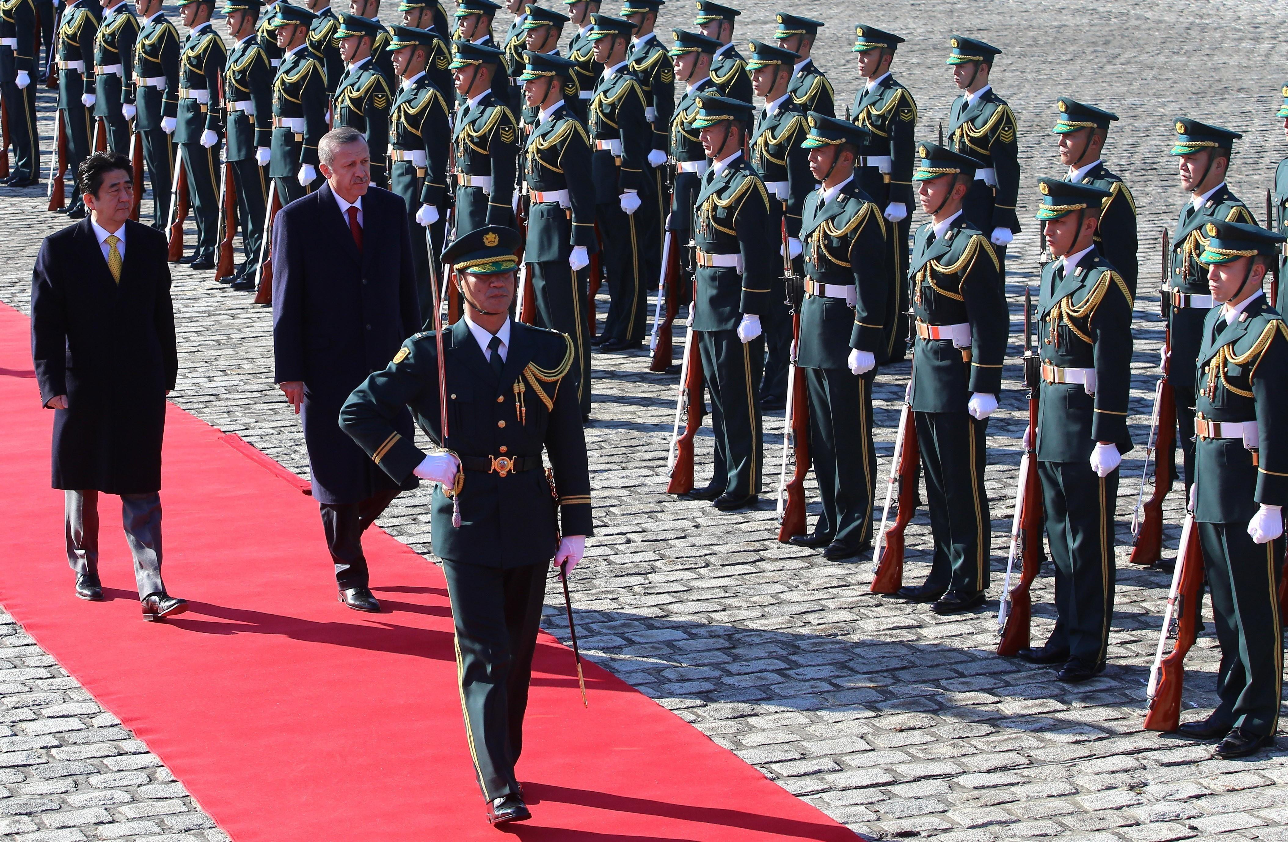 Japonya bunu yıllar sonra ilk kez Başbakan Erdoğan için yaptı