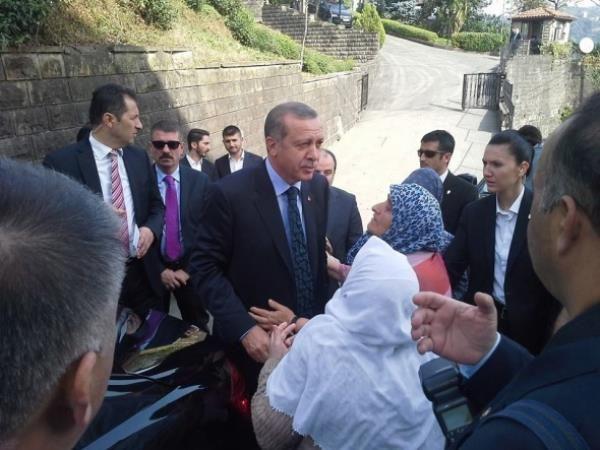 Erdoğan'ı komşuları böyle uğurladı