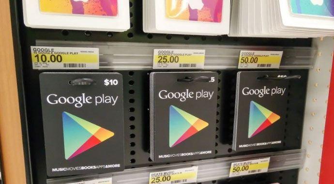 Google Play hediye kartları Türkiye'ye geliyor