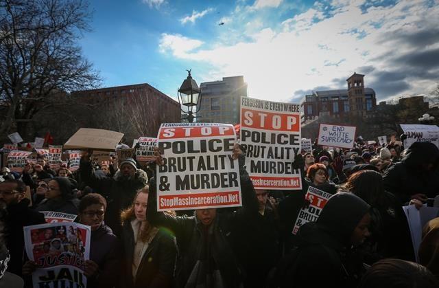 ABD'de dev protesto, on binler yürüdü