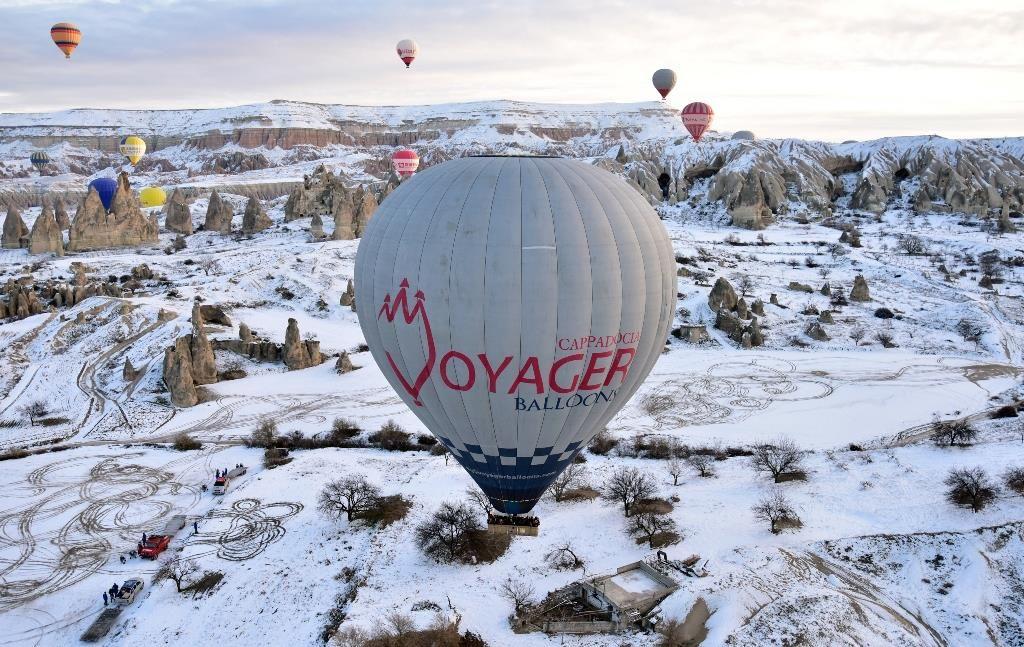 Kapadokya'dan kar manzaraları