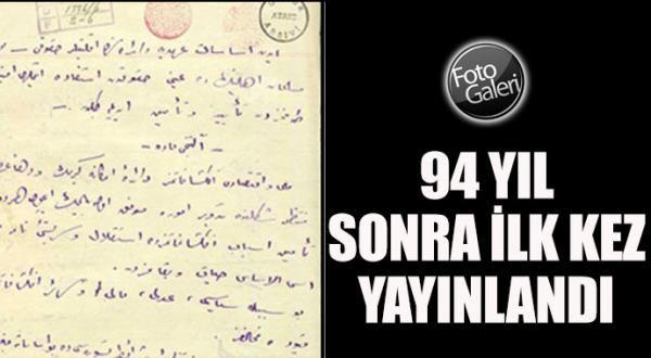 Misak-ı Milli 94 yıl sonra yayınlandı