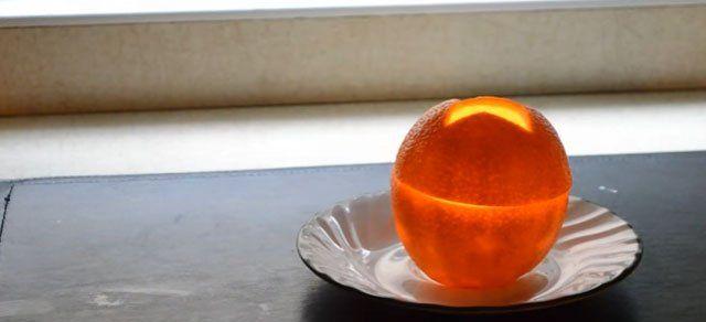 Portakaldan mum yapımı