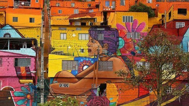 Bogota'daki grafitili mahalle, sakinlerinin gururu oldu
