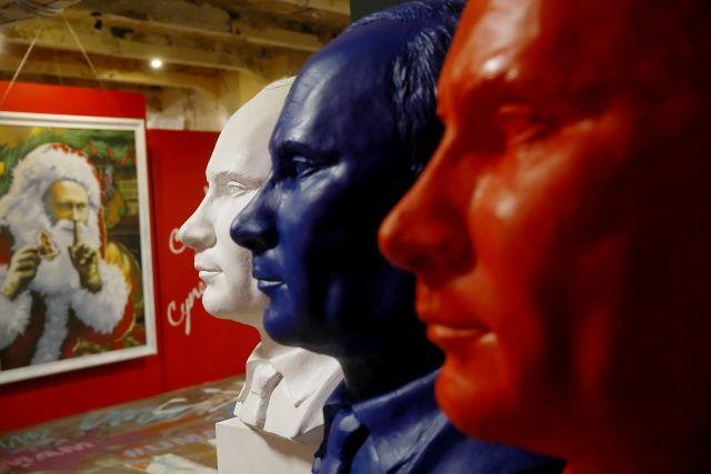Moskova'da 'Süper Putin' sergisi