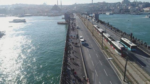 İstanbul'da 'Kış güneşi' manzaraları havadan görüntülendi