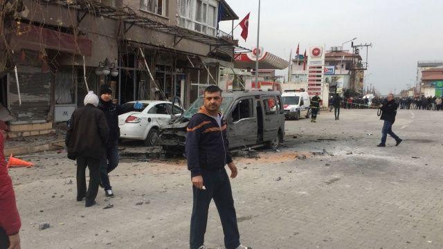 Reyhanlı kent merkezine roket atıldı: 1 ölü, 32 yaralı