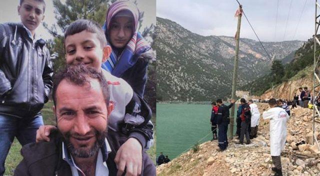 Baraj gölüne düşen otomobilde 3 çocuğuyla birlikte oldu
