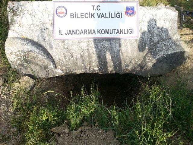 Arkeolojik sit alanında kaçak kazıya suçüstü