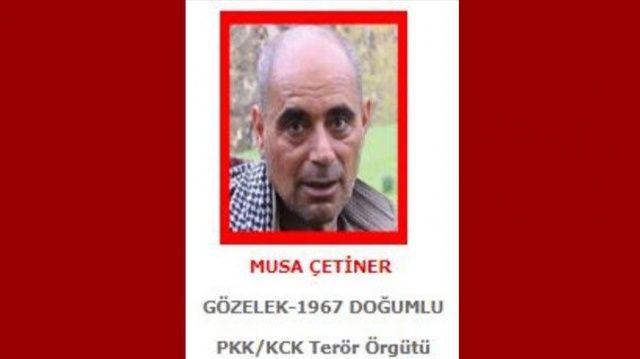 Kırmızı listedeki terörist Musa Çetiner öldürüldü