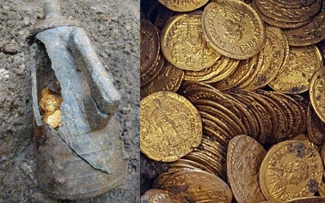 Tiyatronun altından Roma İmparatorluğu hazinesi çıktı!