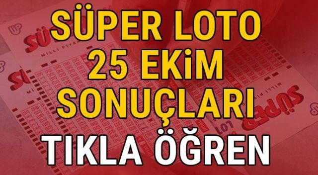 25 Ekim Süper Loto sonuçları | Süper Loto 25 Ekim sonuçları sorgula (MPİ Süper Loto çekiliş sonuçları)