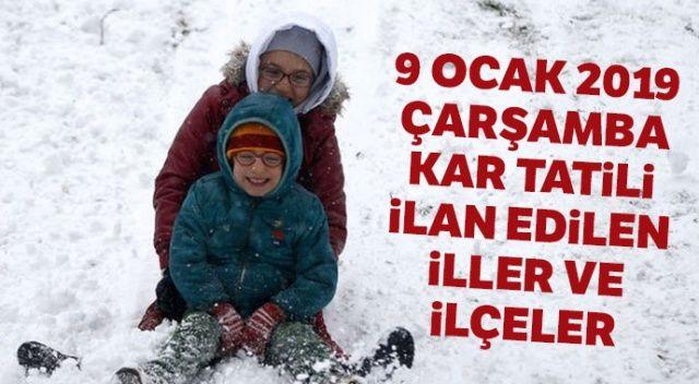 9 Ocak 2019 okullar tatil mi? ANKARA, İSTANBUL hangi illerde kar tatili ilan edildi? Son dakika valilik kar tatili haberleri