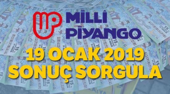 19 Ocak 2019 Milli Piyango sorgulama MPİ | Milli Piyango sonuçları 19 Ocak kazandıran numaralar