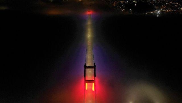 15 Temmuz Şehitler Köprüsü'nde kartpostallık manzara