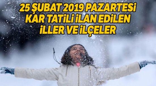 25 Şubat okullar tatil mi? Kar tatili olan iller ve ilçeler listesi (SON DAKİKA Ankara İstanbul kar tatili haberleri)