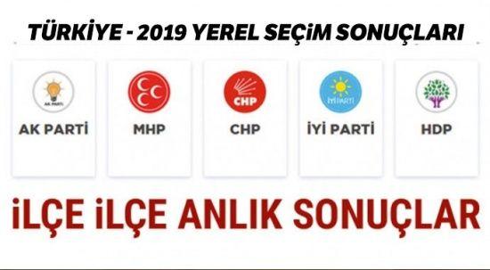 31 Mart yerel seçimi il il sonuçları ( Türkiye Yerel Seçim Sonuçları)