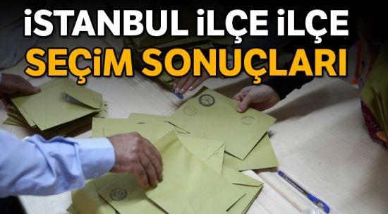 İstanbul İlçe İlçe Seçim Sonuçları- 31 Mart 2019 Yerel Seçimleri İstanbul