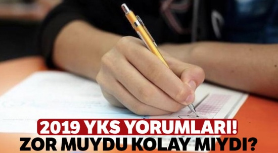 AYT 2019 yorumları, AYT zor muydu kolay mıydı? İşte soru yorumları... AYT soruları nasıldı?