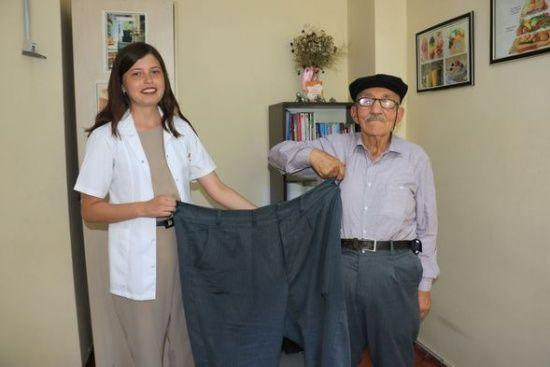 Çocuklarına inat 41 kilo veren Cuma dede, sağlığına kavuştu