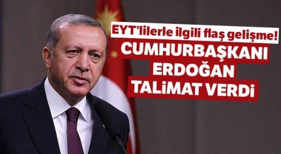 EYT son dakika gelişmesi! EYT 2019 son durum.. Cumhurbaşkanı Erdoğan'dan EYT yasası talimatı