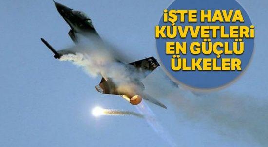 Hava kuvvetleri en güçlü ülkeler açıklandı! Bakın Türkiye kaçıncı sırada!