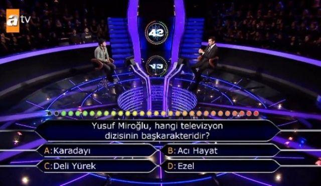Milyoner'de ilginç anlar! 'Yusuf Miroğlu' sorusu için yardım istedi, İmirzalıoğlu'nun cevabı olay oldu!