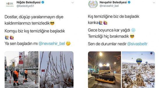 Belediyelerin kar diyaloğu gülümsetti