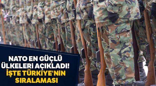 NATO en güçlü ülkeleri açıkladı! İşte Türkiye'nin sıralaması