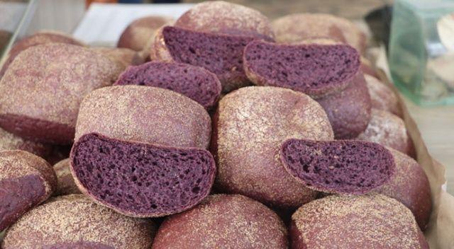 Faydası saymakla bitmiyor... Rengi mor ekmek o ilde üretilmeye başlandı!