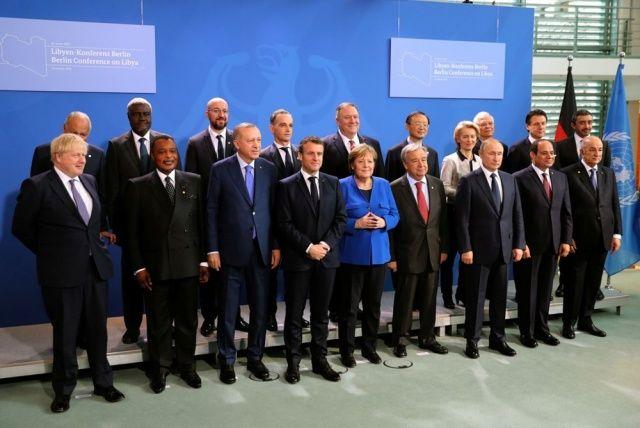 Berlin'de düzenlenen Libya konferansından kareler