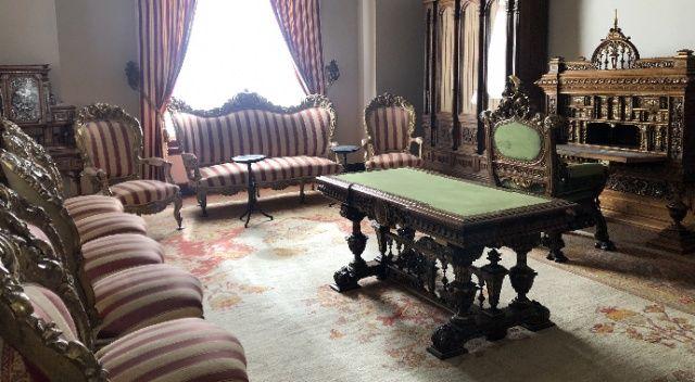 II. Abdülhamid'in Beylerbeyi Sarayı'ndaki odası görüntülendi