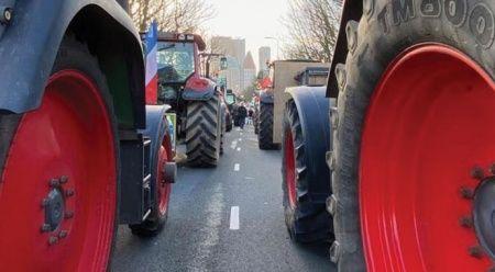 Bu görüntüler Hollanda'dan! Çiftçiler ayaklandı, hayat durdu...