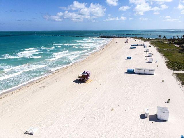 Miami'nin meşhur plajları koronavirüs nedeniyle kapatıldı
