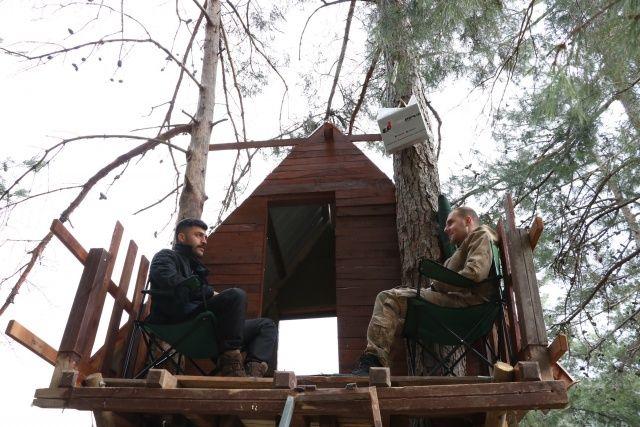 Koronavirüsten ağaç tepesine yaptıkları evde korunuyorlar