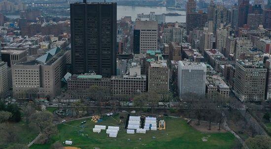 Central Park'ta sahra hastanesi kuruldu