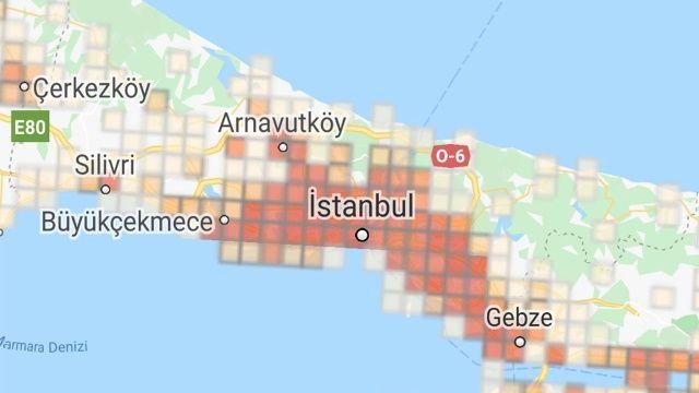 İlçe ilçe İstanbul'un koronavirüs yoğunluk haritası