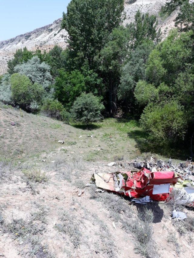 Ankara Beypazarı'nda eğitim uçağı düştü