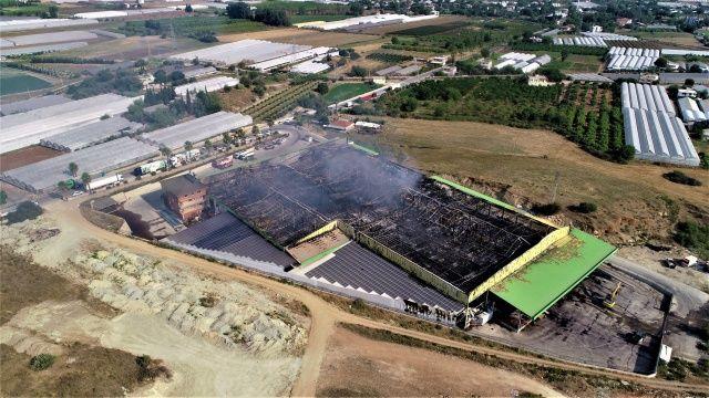 Antalya'da çıkan büyük yangında zarar yaklaşık 80 milyon lira