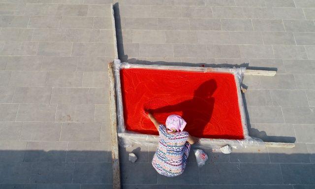 Salça sezonu başladı, damlar kırmızıya boyandı