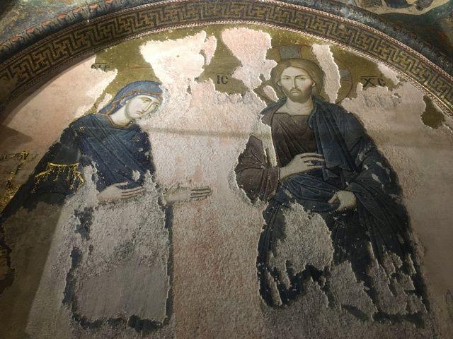 İbadete açılan Kariye Camii'nin içi görüntülendi