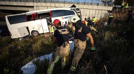 İstanbul'da yolcu otobüsü kaza yaptı: Ölü ve yaralılar var